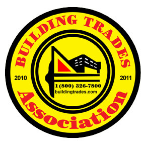 View our Building Trades Association Certificate!